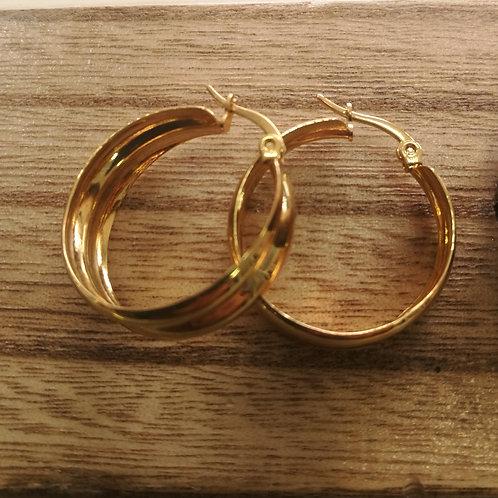 עגילי זהב בינוני 5