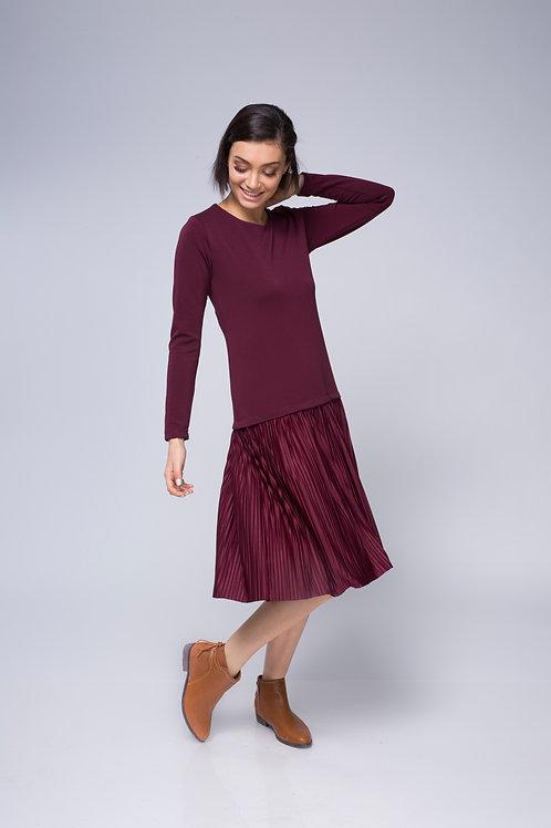 שמלת מנטה בורדו