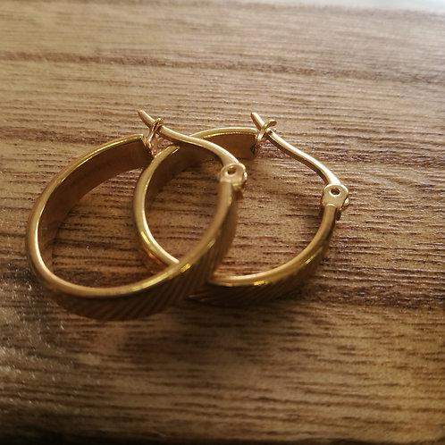 עגילי זהב בינוני 6