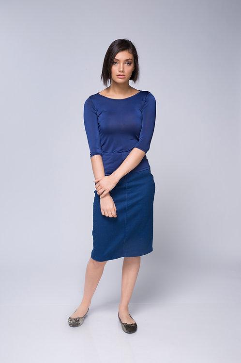 חולצת בסיס כחול