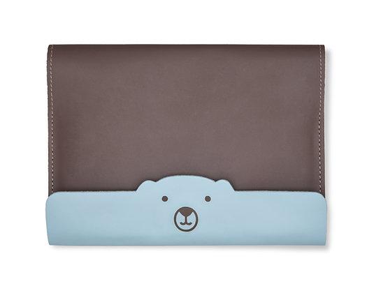 Capa para Caderneta de Vacinação Urso Marrom e Azul