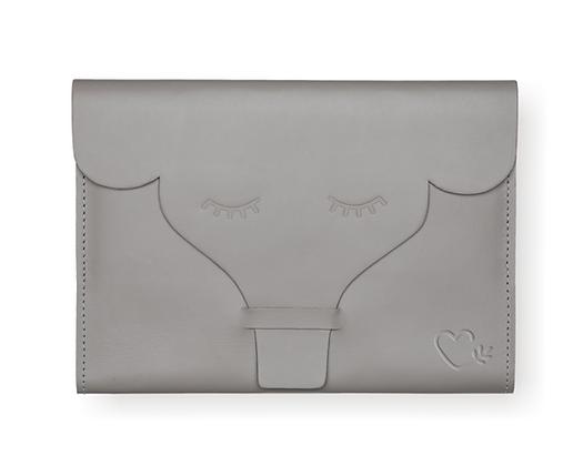 Capa para Caderneta de Vacinação Elefante Cinza - selo MPA