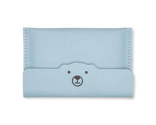 Porta-passaporte/documento Urso Azul