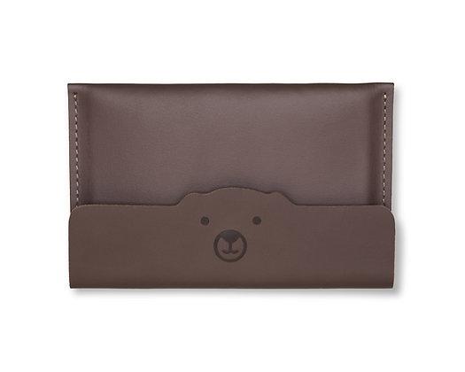 Porta-passaporte/documento Urso Marrom