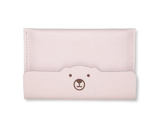Porta-passaporte/documento Urso Rosa