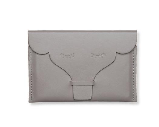 Porta-passaporte/documentos Elefante Cinza