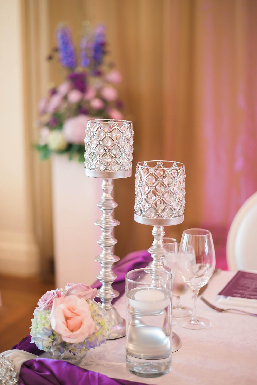 reception decor rosewater room