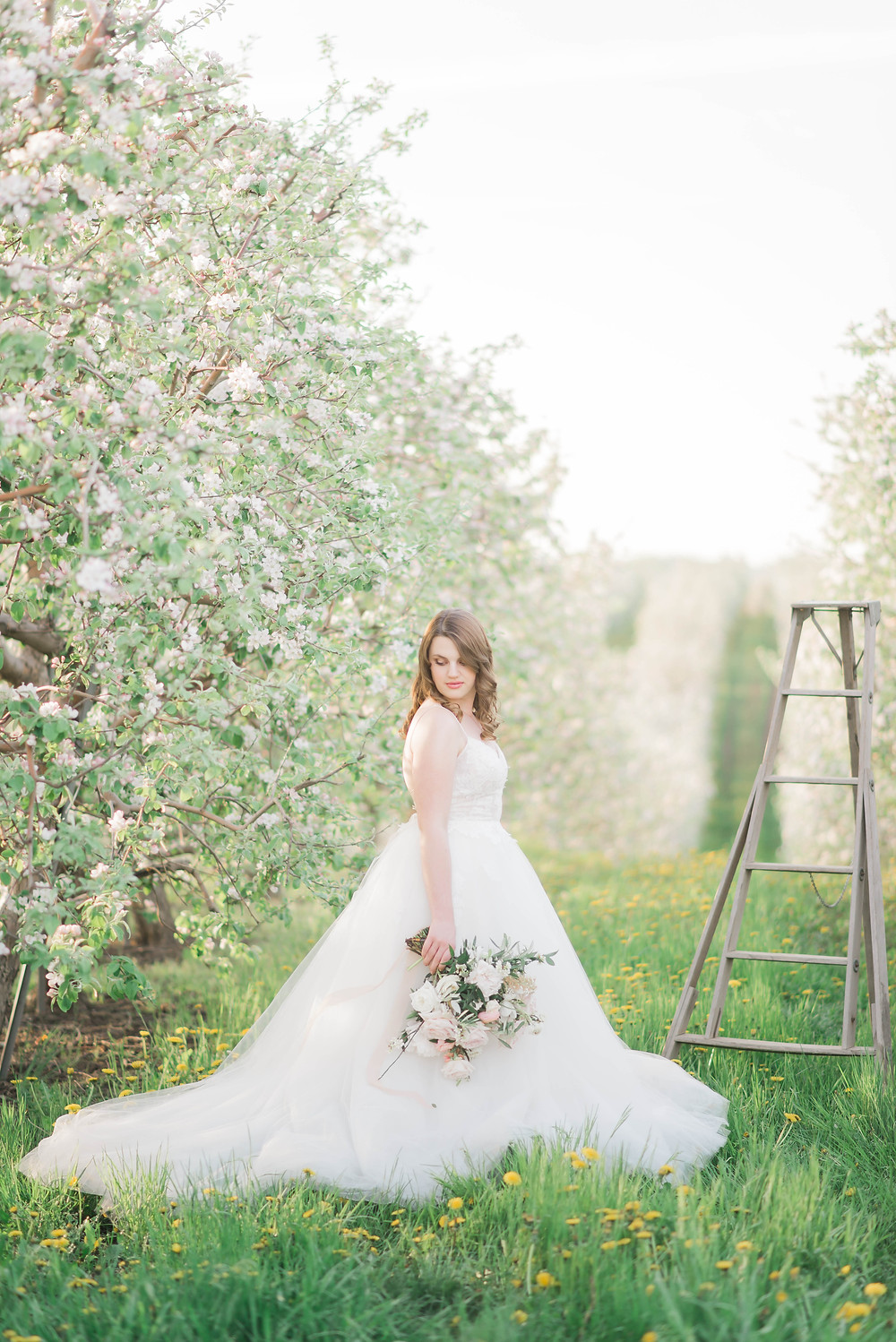 apple blossom wedding inspiration