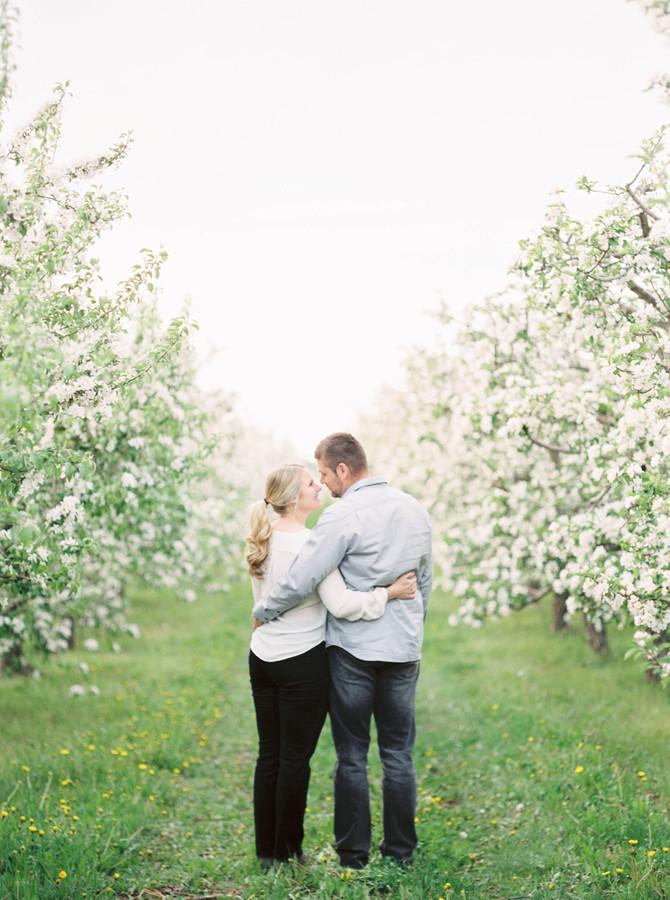 Apple Blossom Engagement [Norfolk County Wedding Photographers]