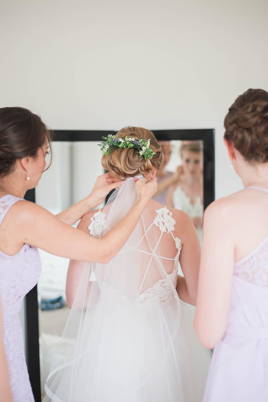 floral hair piece bride