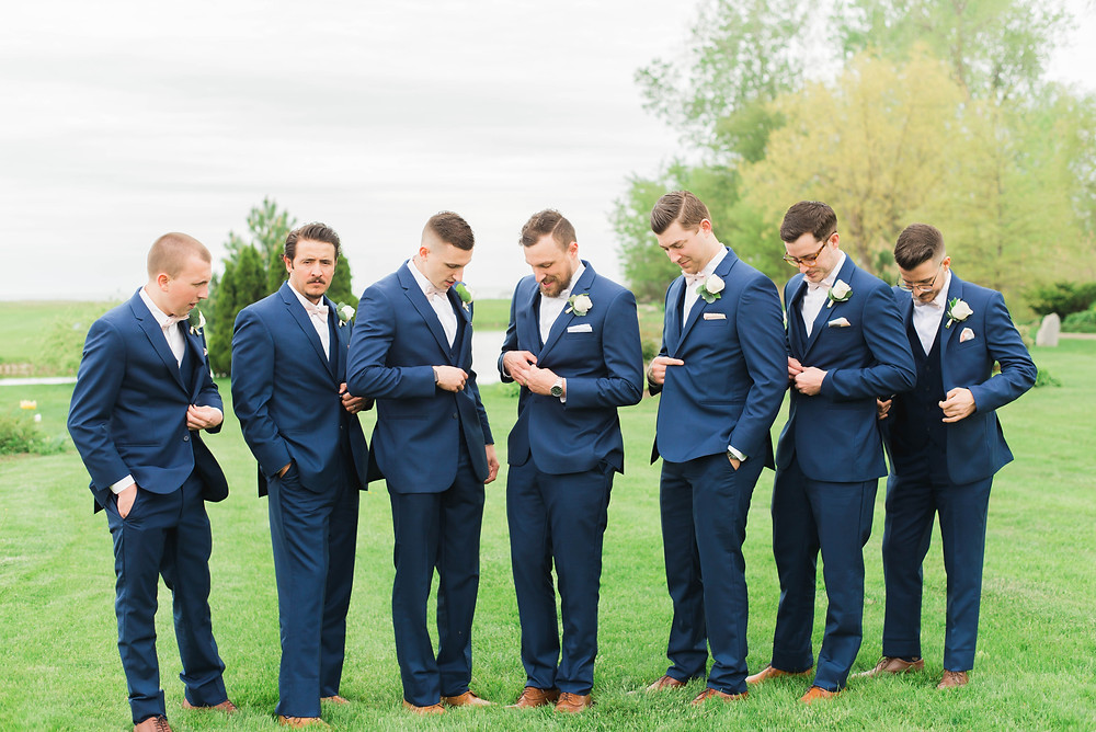 groomsmen navy suit