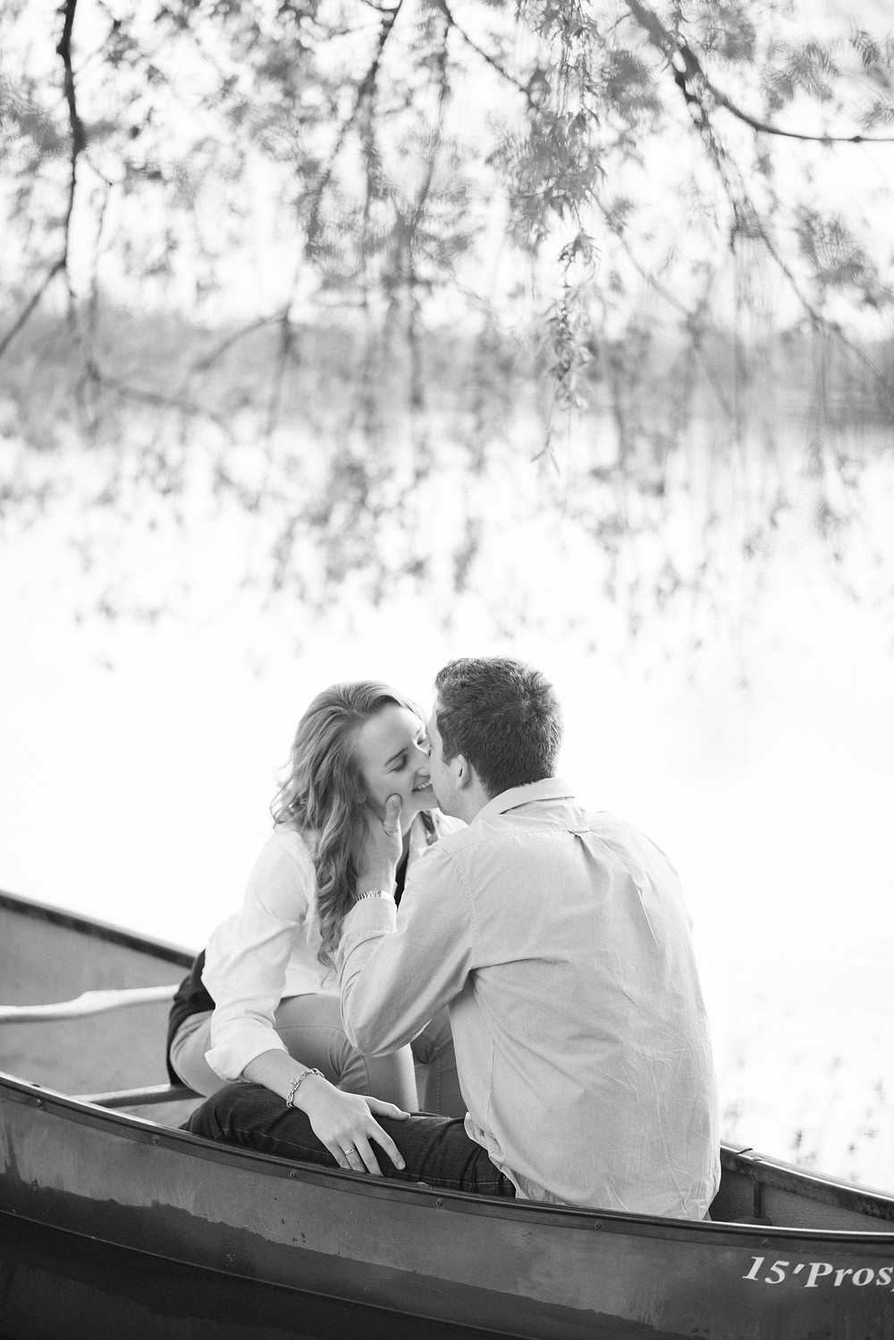 canoe engagement pictures