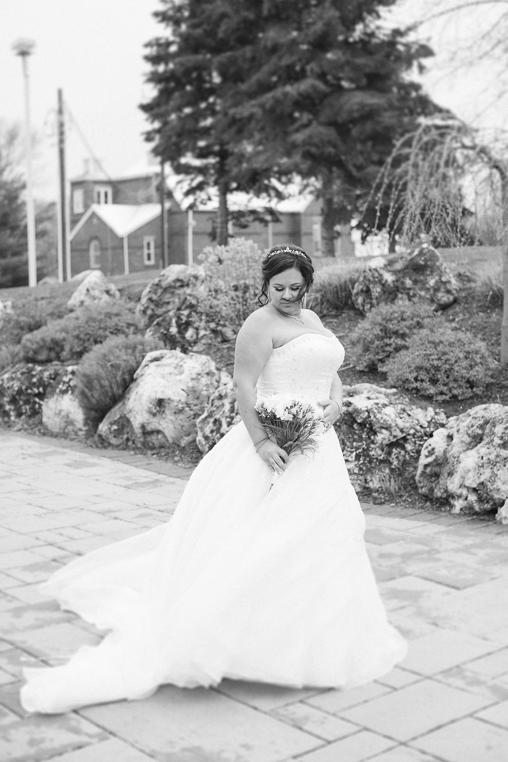 black and white bride pictures