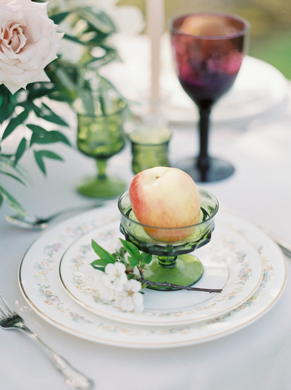 apple wedding decorations
