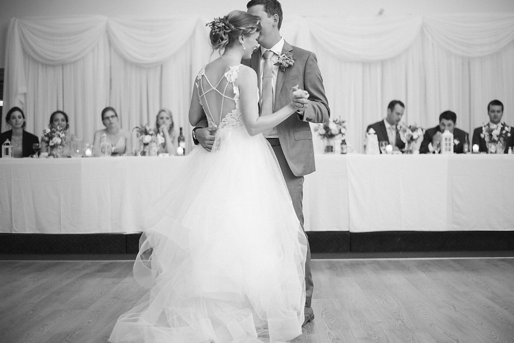 black and white first dance wedding pictures