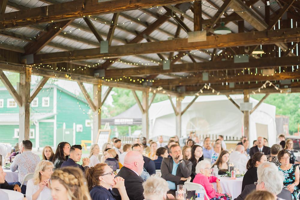 pavillion wedding reception