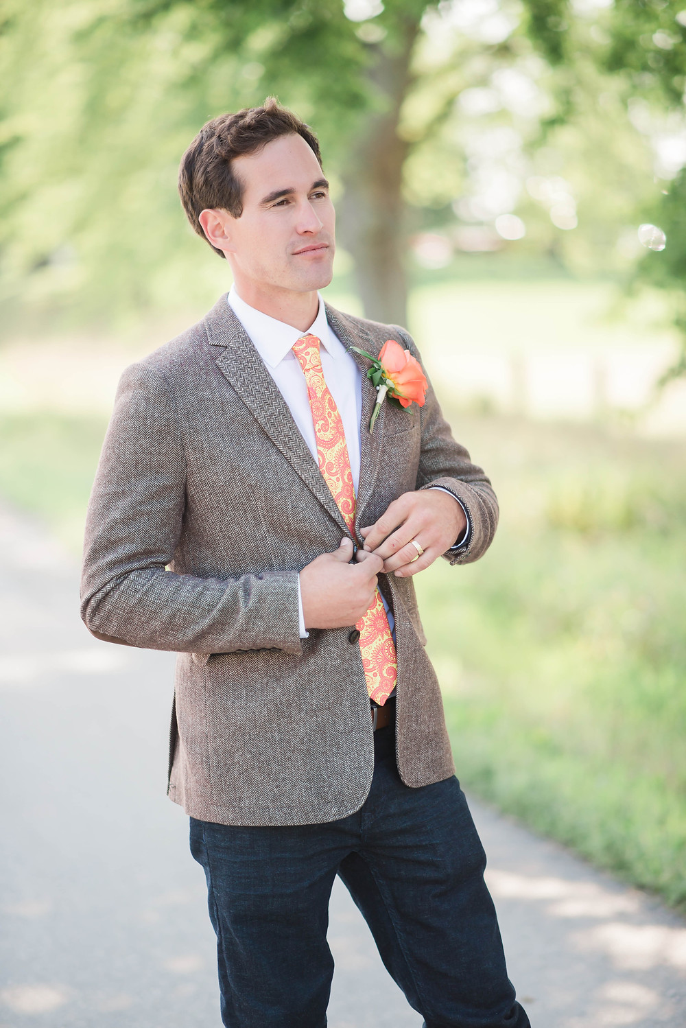 colourful groom details
