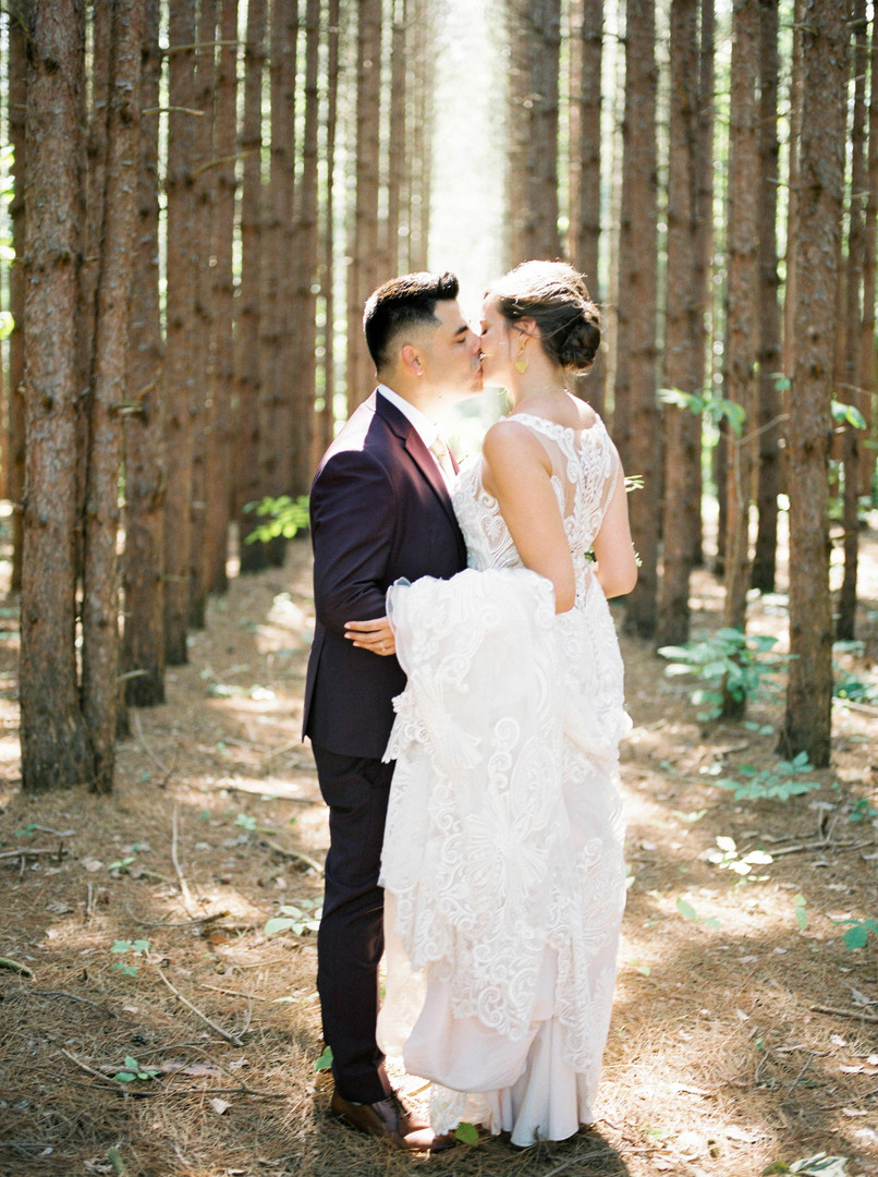 woodland wedding photo
