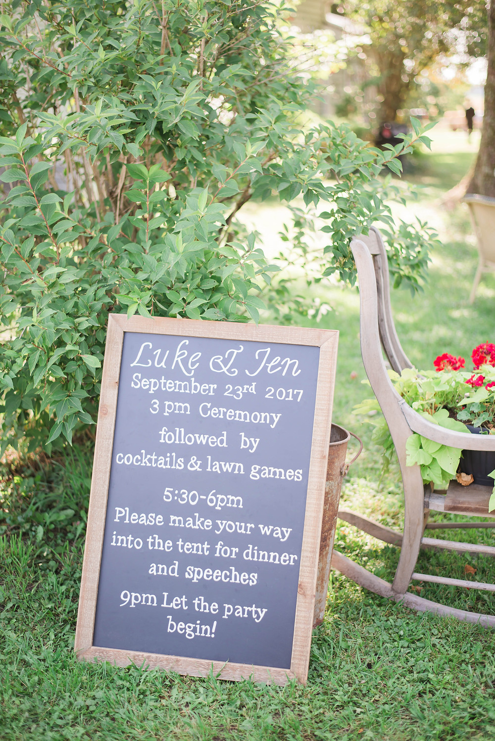 backyard country wedding ontario