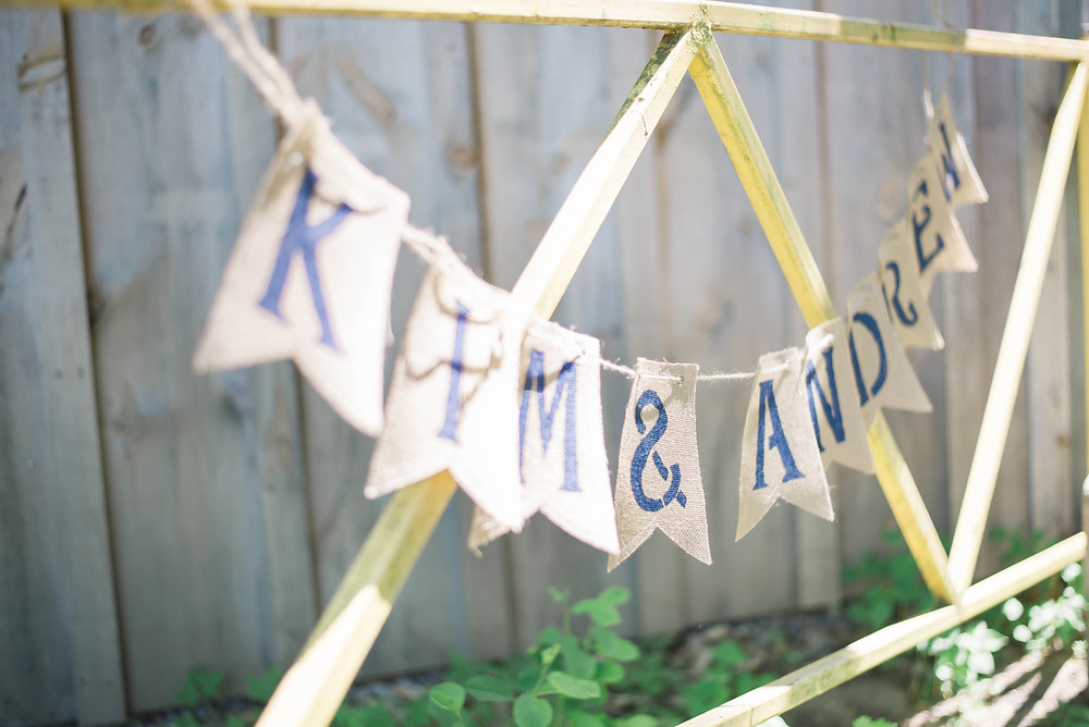rustic wedding banner
