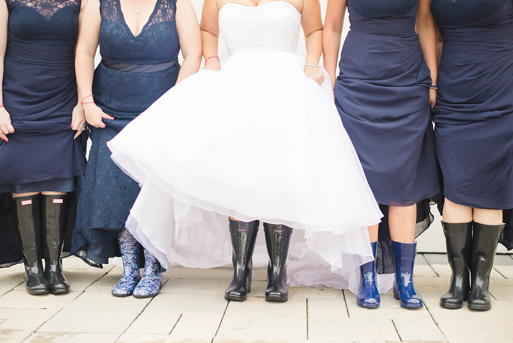 bridesmaids rubber boots