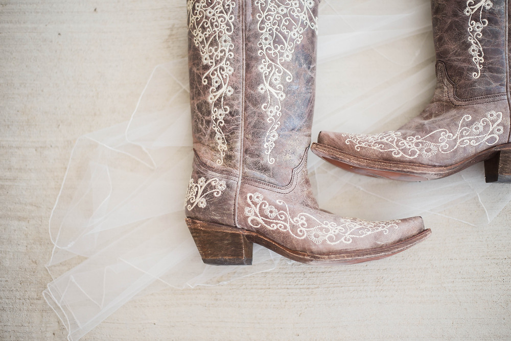wedding day cowgirl boots