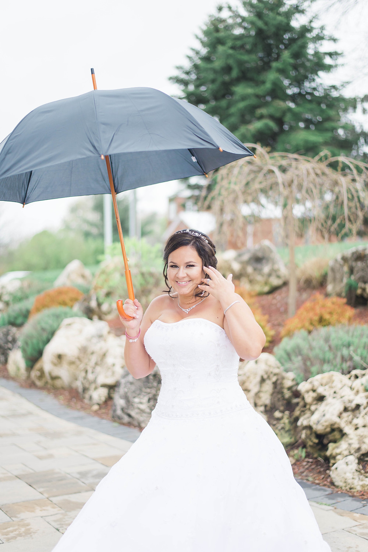 bridal portrait with umbrella