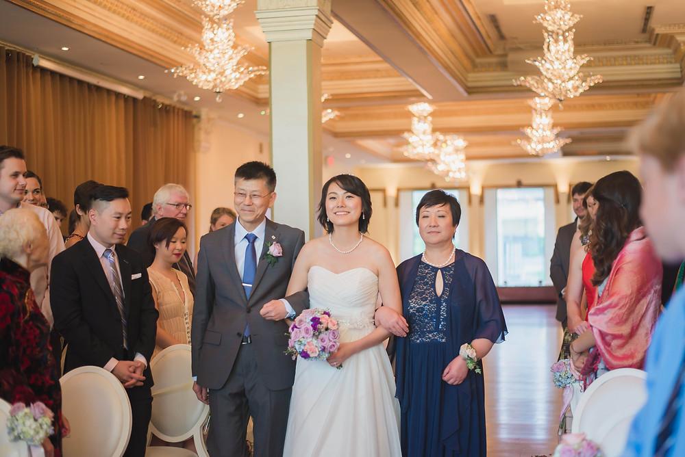 rosewater room wedding ceremony
