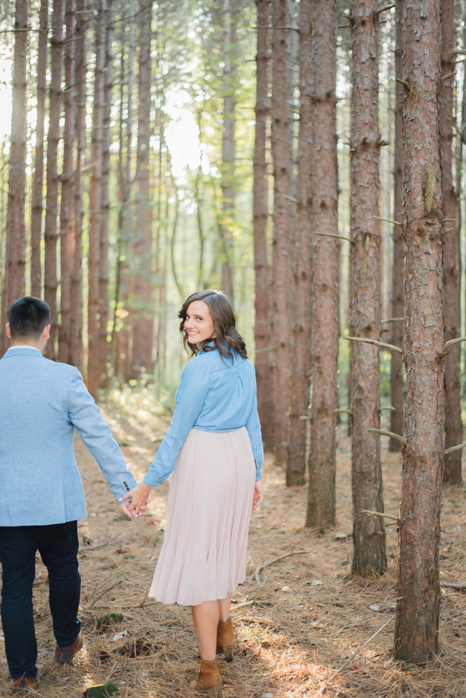 A Woodland Engagement [Turkey Point Engagement Pictures][Norfolk County Wedding Photographers]