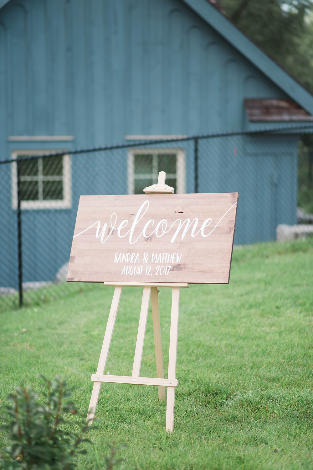welcome sign wedding