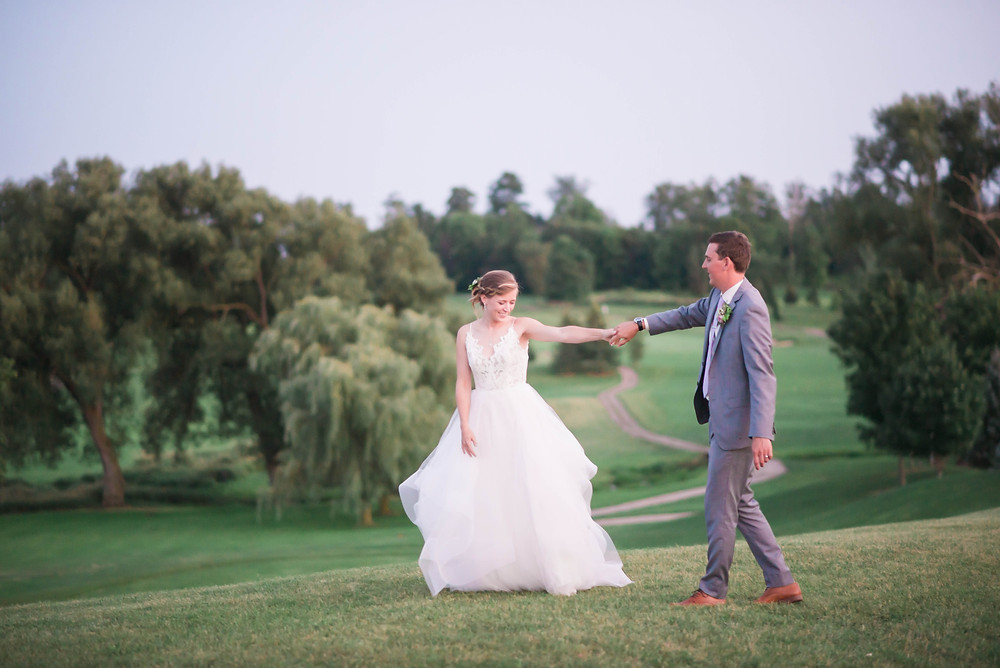 blue hour wedding pictures