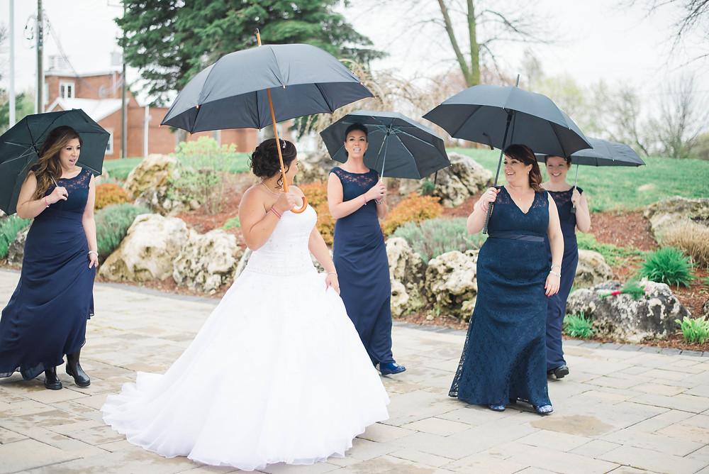 umbrella wedding party