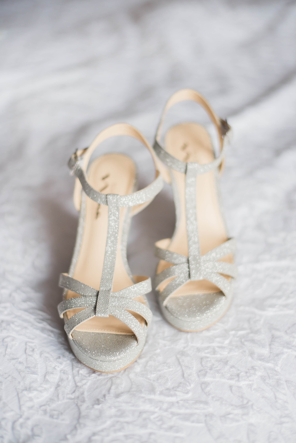 sparkly wedges wedding shoes