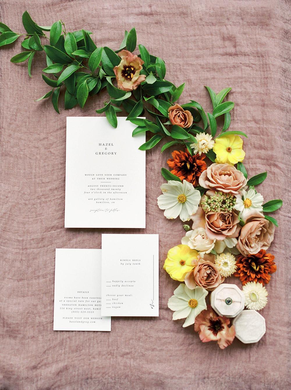 minimalist wedding invitiatons