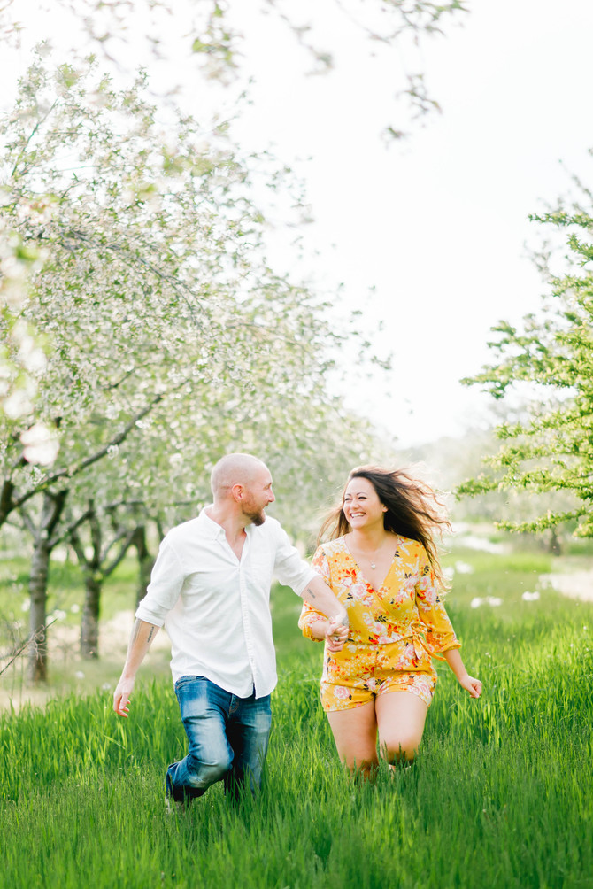 An Anniversary Session in the Cherry Blossoms [Norfolk County Wedding Photographers]