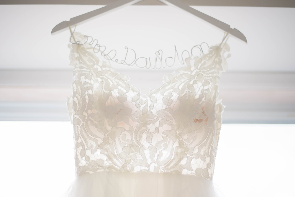 styled hanger bride