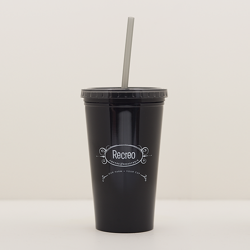 Black Ice Cup with Straw