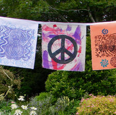 Garden flags by Nancy Marstaller