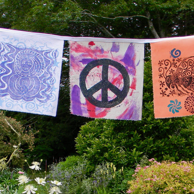 Garden flags by Nancy Marstaller