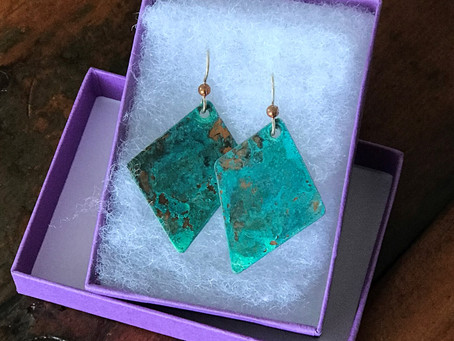 Hand Crafted Copper Earrings by Heather Monique Atwood