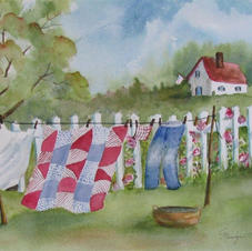 Monday's Wash Day by Marilyn Flanagan