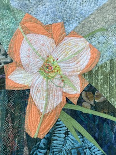 Daylily Quilt #2 by Betsy Chamberlain Habich