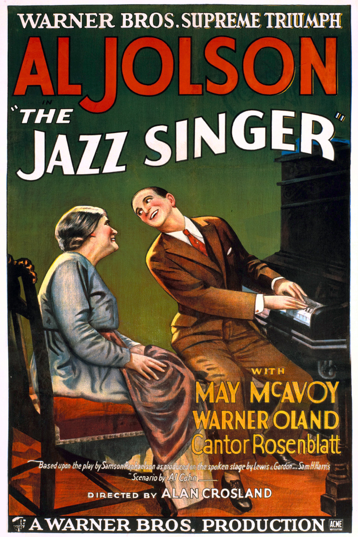 פוסטר זמר הג'אז 1927