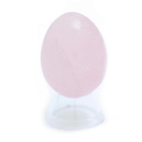Rose quartz crystal egg(45mm tall)