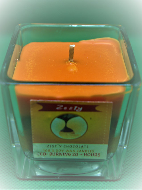 Zesty 20+Hr Soy wax Candle-Unique design -Original  Natural scent