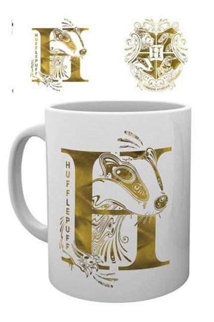 Harry Potter Mug Hufflepuff Monogram Cups & Mugs Harry Potter - High quality