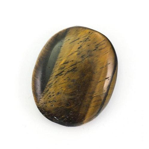 Golden Tigers Crystal Eye Palm Stone