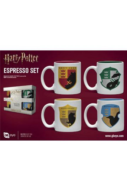 Harry Potter Espresso Mugs 4-Pack House Pride Cups & Mugs Harry Potter