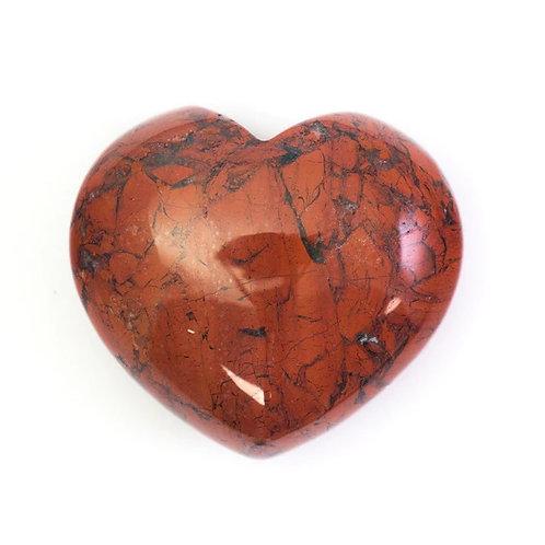 Red jasper crystal heart