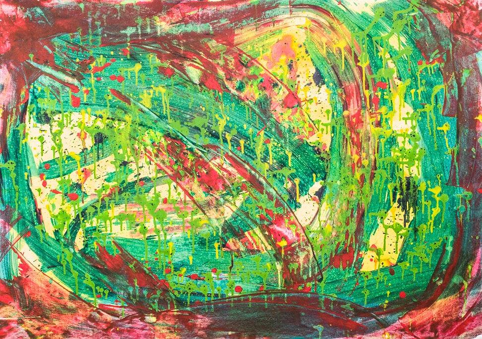 Живопись, абстракция, импрессионизм, подарок, цвет красный
